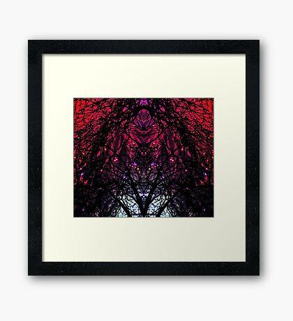 SKULL TREE GALAXY LIGHT Framed Print