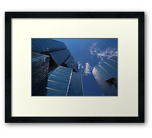 Oh So Blue - Downtown Toronto Skyscrapers Framed Print