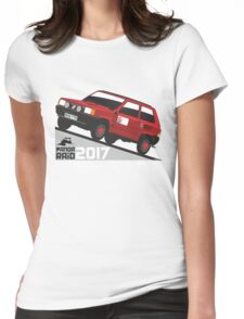 Fiat Panda personalized for June Womens Fitted T-Shirt