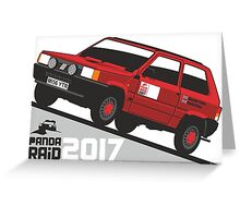 Fiat Panda personalized for June Greeting Card