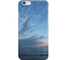 Pale Blues and Feathery Clouds in the Fading Light iPhone Case/Skin
