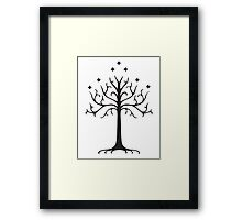 Tree of gondor, lord of the rings  Framed Print