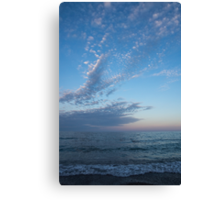 Pale Blues and Feathery Clouds in the Fading Light Canvas Print