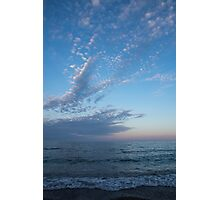 Pale Blues and Feathery Clouds in the Fading Light Photographic Print