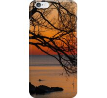 Colorful Quiet Sunrise on the Lake  iPhone Case/Skin