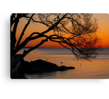 Colorful Quiet Sunrise on the Lake  Canvas Print