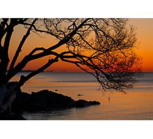 Colorful Quiet Sunrise on the Lake  Photographic Print