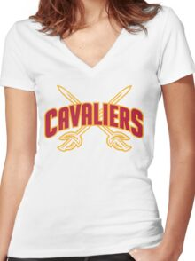 cleveland cavaliers Women's Fitted V-Neck T-Shirt