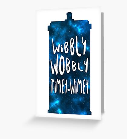 Doctor Who - Wibbly Wobbly TARDIS Greeting Card