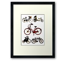 Classic bicycles Framed Print