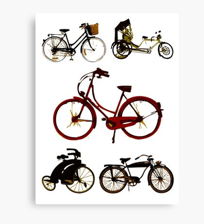 Classic bicycles Canvas Print