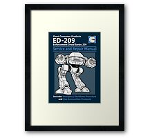 ED-209 Service and Repair Manual Framed Print