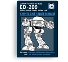 ED-209 Service and Repair Manual Canvas Print