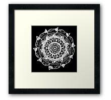 White & Black Framed Print