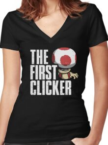 The First Clicker Women's Fitted V-Neck T-Shirt