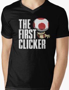 The First Clicker Mens V-Neck T-Shirt
