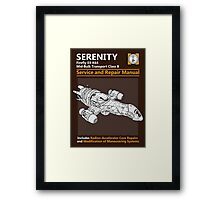 Shiny Service and Repair Manual Framed Print