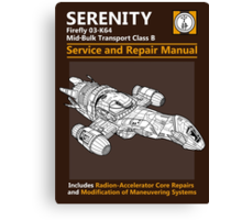 Shiny Service and Repair Manual Canvas Print