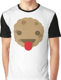 Cookie Emoji Tongue Out Graphic T-Shirt