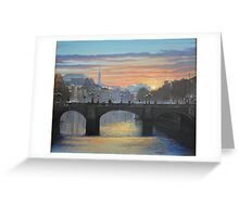 OCONNELL BRIDGE DUBLIN Greeting Card