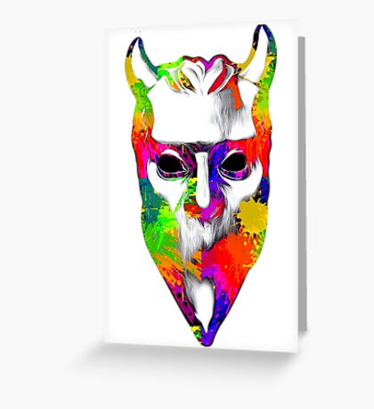 NAMELESS GHOUL - paint splotch oil paint Greeting Card