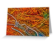 Dancing Colours Greeting Card