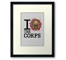 I Love The Corps Framed Print