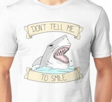 don't tell me to smile - color Unisex T-Shirt