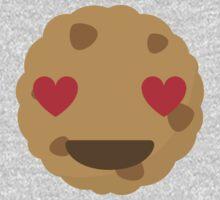 Cookie Emoji Heart and Love Eyes One Piece - Short Sleeve