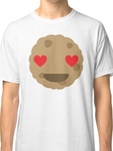 Cookie Emoji Heart and Love Eyes Classic T-Shirt
