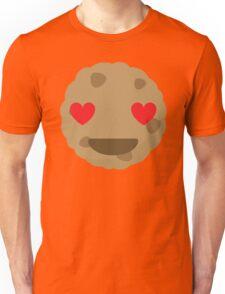 Cookie Emoji Heart and Love Eyes Unisex T-Shirt