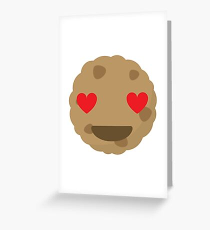 Cookie Emoji Heart and Love Eyes Greeting Card