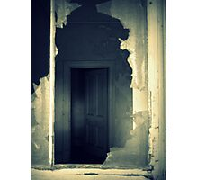 House of Ghosts- Chill Through a Broken Window. Photographic Print