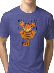 garfield spedy wall Tri-blend T-Shirt