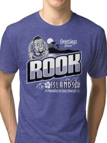 Greetings from Rook Islands Tri-blend T-Shirt
