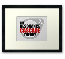 The Resonance Cascade Theory Framed Print