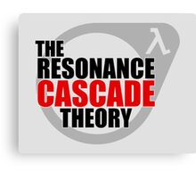 The Resonance Cascade Theory Canvas Print
