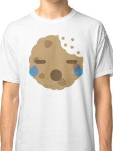 Cookie Emoji with Teary Eyes and Sad Look Classic T-Shirt