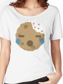 Cookie Emoji with Teary Eyes and Sad Look Women's Relaxed Fit T-Shirt