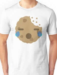 Cookie Emoji with Teary Eyes and Sad Look Unisex T-Shirt