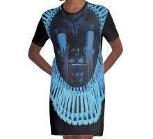 Awaken My Love - Gambino Glitched Graphic T-Shirt Dress