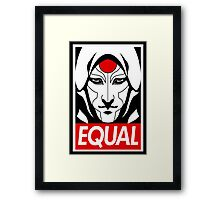 Equal Framed Print