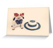 Pug's Summer Greeting Card
