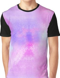 Watercolor hand painted background, pink, blue, purple texture  Graphic T-Shirt