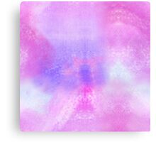 Watercolor hand painted background, pink, blue, purple texture  Canvas Print
