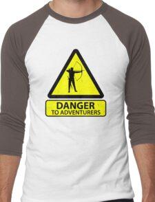 Danger to Adventurers Men's Baseball ¾ T-Shirt