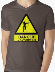 Danger to Adventurers Mens V-Neck T-Shirt