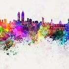 Mumbai skyline in watercolor background by paulrommer