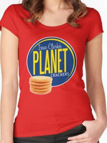 Isaac Clarke's Planet Crackers Women's Fitted Scoop T-Shirt