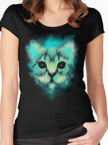 Cosmic Cat Women's Fitted Scoop T-Shirt